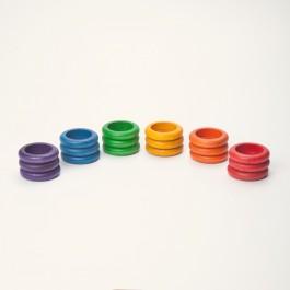 Grapat 18 Ringe bunt - Holzspielzeug Profi