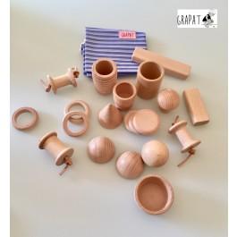 Grapat Treasure Basket mit 20 Elementen - Holzspielzeug Profi