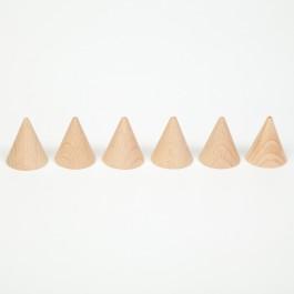 Grapat 6 Holzkegel Cones natur - Holzspielzeug Profi