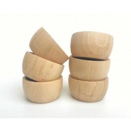 Grapat 6 Schächen Bowls natur - Holzspielzeug Profi
