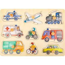 Holzpuzzle Fahrzeuge der Stadt von small foot - Holzspielzeug Profi