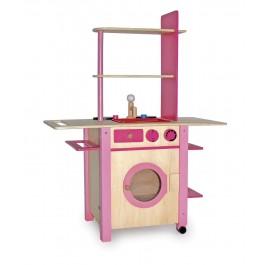 Küche - all in one rosa Waschmaschine
