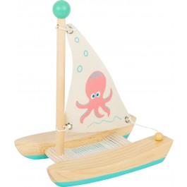 small foot Wasserspielzeug Katamaran Oktopus - Holzspielzeug Profi