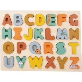 Setzpuzzle Safari ABC von small foot - Holzspielzeug Profi