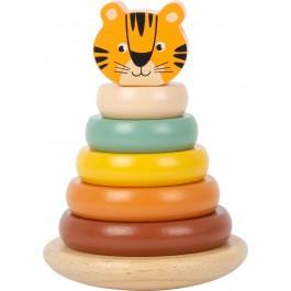 Stapelturm Safari Tiger von small foot - Holzspielzeug Profi