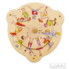 Lokki Wandspiel Drehscheibe Fahrzeuge - Holzspielzeug Profi