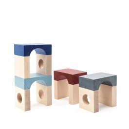 Lubulona Tunnel Blocks Fontana - Holzspielzeug Profi
