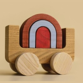 MinMin Copenhagen Rainbow Car - Holzspielzeug Profi