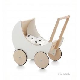 ooh noo Puppenwagen Halbmond weiß (ohne Wäsche!) - Holzspielzeug Profi