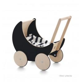 ooh noo Puppenwagen Halbmond schwarz (ohne Wäsche!) - Holzspielzeug Profi