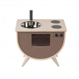 sebra Spielküche in warm grau - Holzspielzeug Profi