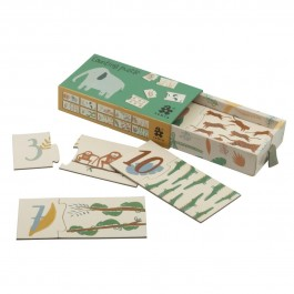 sebra Memospiel Zahlenpuzzle Wildlife - Holzspielzeug Profi