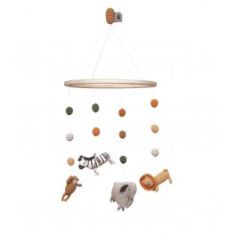 sebra Häkel-Mobile Wildlife - Holzspielzeug Profi