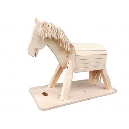 Helga Kreft Kleines Spielpferd Pauline (35 cm Rückenhöhe) mit Bodenplatte - Holzspielzeug Profi