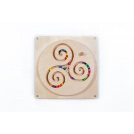 SINA Spielzeug Wandspiel Kugelwirbel - Holzspielzeug Profi