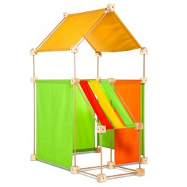 Trígonos Family in gelb-grün-orange - Holzspielzeug Profi