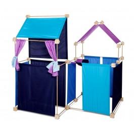 Trígonos Maxi in blau-türkis-pink - Holzspielzeug Profi