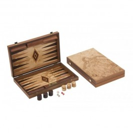 Übergames Backgammon Olivenholz robust - Holzspielzeug Profi