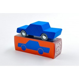 waytoplay Back & Forth Holzauto Blue - Holzspielzeug Profi