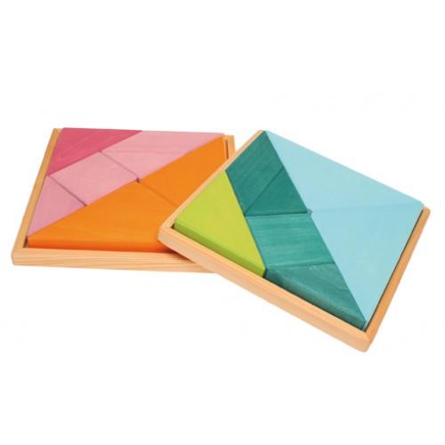 grimm´s tangram blaugrün formenspiele beim holzspielzeug