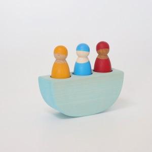 GRIMM´S 3 Männer im Boot bunt - Holzspielzeug Profi