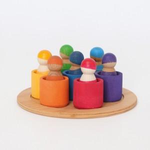 GRIMM´S Regenbogenbande 7 Freunde - Holzspielzeug Profi