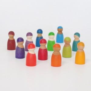 GRIMM´S Regenbogenbande 12 Freunde - Holzspielzeug Profi