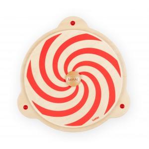 Lokki Wandspiel Rote Drehspirale - Holzspielzeug Profi