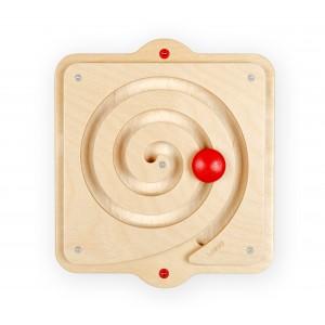 Lokki Wandspiel Labyrinth Spirale links (rot) - Holzspielzeug Profi