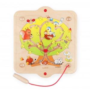 Lokki Wandspiel Magnetspiel Magic Tree- Holzspielzeug Profi