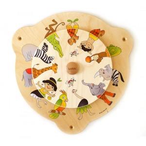 Lokki Wandspiel Drehscheibe Afrika - Holzspielzeug Profi
