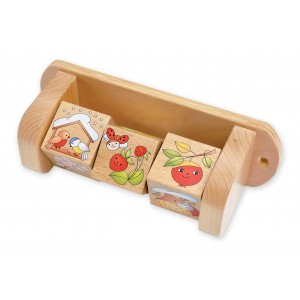 Lokki Wandspiel Vier Jahreszeiten Drehwürfel - Holzspielzeug Profi