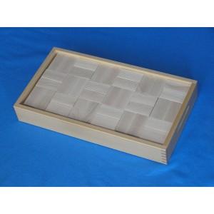 Beck Bauwagen - Aufsatzkasten mit 3 Schichten Bauklötzen: Holzspielzeug Profi