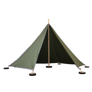 ABEL tent 1 in grün - Holzspielzeug Profi