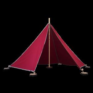 ABEL tent 1 in rot - Holzspielzeug Profi
