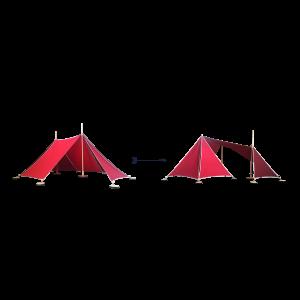 ABEL tent Erweiterung 2-3 in rot - Holzspielzeug Profi