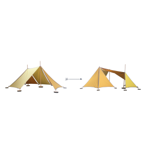 ABEL tent Erweiterung 2-3 in gelb - Holzspielzeug Profi