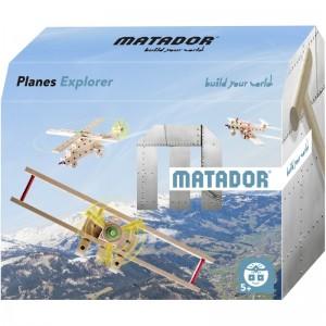 MATADOR Planes Explorer (65 Teile) - Holzspielzeug Profi
