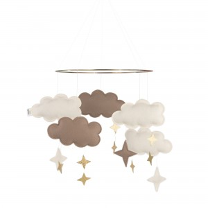 Baby Bello Filz-Mobile Fantasy Clouds Wolken Mobile in Rose Glow - Holzspielzeug Profi