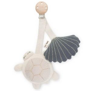 Baby Bello Tily the Turtle blau Kinderwagen Clip - Holzspielzeug Profi