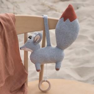Baby Bello Finny the Fennex Fox als Spieluhr: Ginger Grey - Holzspielzeug Profi