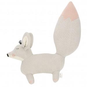 Baby Bello Finny the Fennex Fox als Stofftier: Sandy Pink - Holzspielzeug Profi