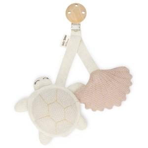 Baby BelBaby Bello Tily the Turtle rosa Kinderwagen Clip - Holzspielzeug Profi