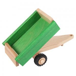 Beck Anhänger zum Kippen mit Gummirädern: kippbare Ladefläche - Holzspielzeug Profi