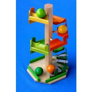 Beck Treppen-Kugelturm - Holzspielzeug Profi