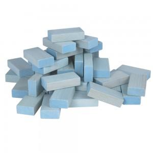 Beck Pastell Uhlbausteine blau - Holzspielzeug Profi