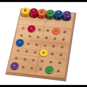 Sudoku mit Farben von Holz-Bi-Ba-Butze - Holzspielzeug Profi