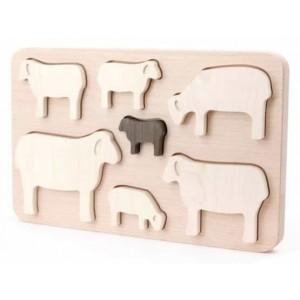 BAJO Puzzle Schafe - Holzspielzeug Profi