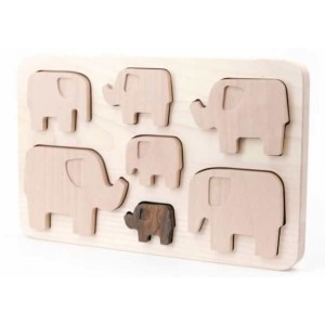 BAJO Puzzle Elefanten - Holzspielzeug Profi