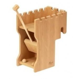Drewart Großes Verteidigungs-Katapult - Holzspielzeug Profi
